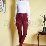 Pantaloni skinny cu talie inalta