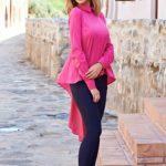 Camasa roz asimetrica