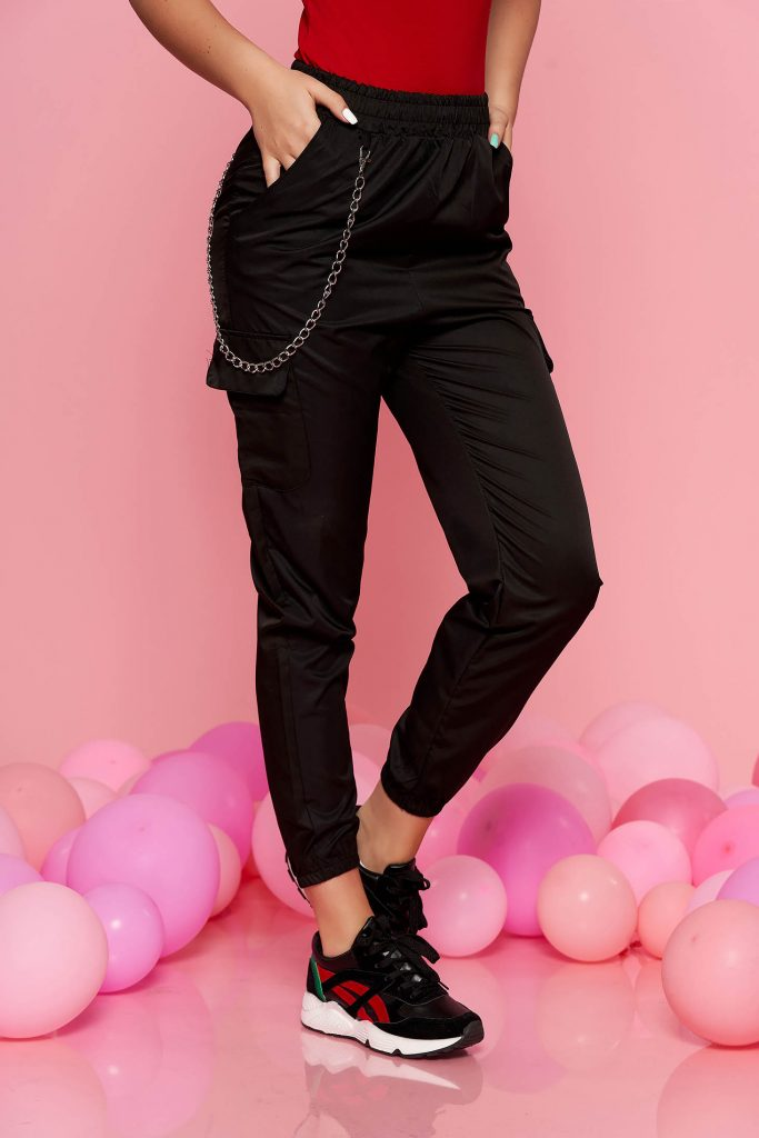 pantaloni negri casual dama