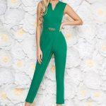 Salopeta verde eleganta