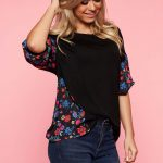 Bluza neagra casual Top Secret