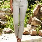 Pantaloni albi dama ieftini