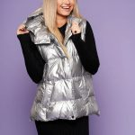 Vesta de fas dama argintiu casual