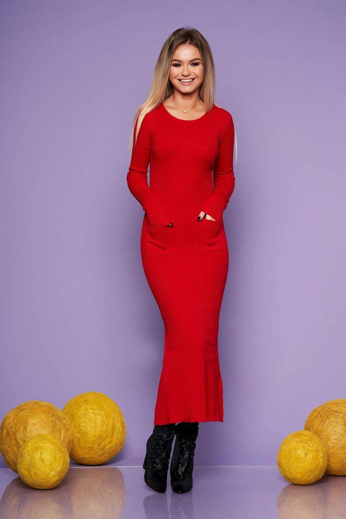 rochie lunga tricotata